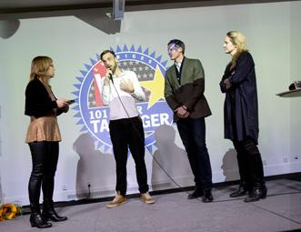 Veckans Affärers Supertalang-evenemang 2012 med panelen Gustav MArtner, vd för reklambyrån CPB Europe, Martin Tiveus, vd Avanza och Lina Thomsgård, grundare av Rättviseförmedlingen